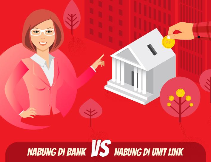 Infografis - Nabung di Bank VS Nabung di Unit Link