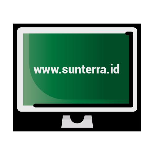 Pemegang kartu transaksi melakukan pembelian melalui aplikasi atau website SUNterra