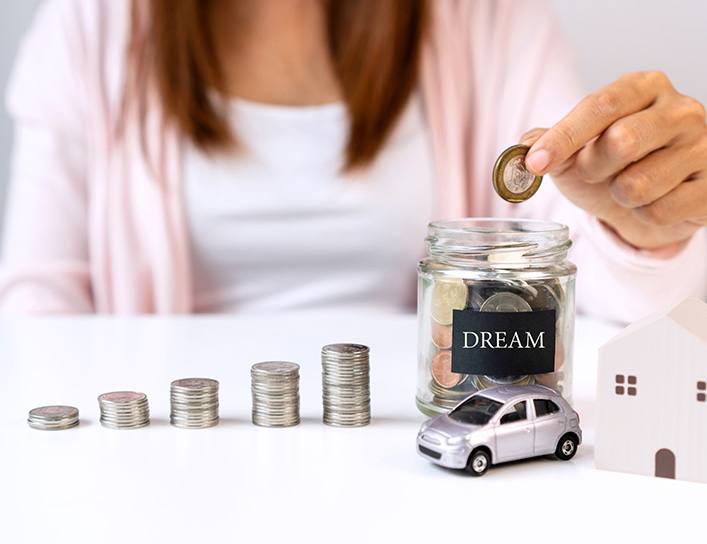 nabung untuk rumah atau mobil